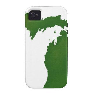 Mapa de Michigan Case-Mate iPhone 4 Carcasas