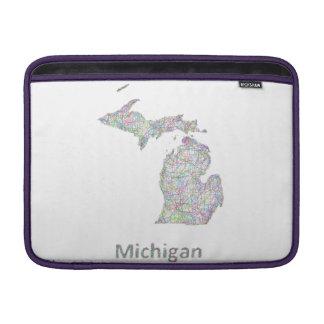 Mapa de Michigan Fundas MacBook