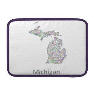 Mapa de Michigan Fundas Para Macbook Air