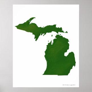 Mapa de Michigan Impresiones
