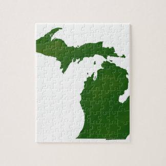 Mapa de Michigan Rompecabezas Con Fotos