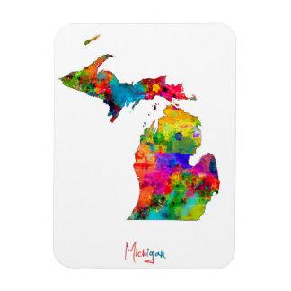 Mapa de Michigan Rectangle Magnet
