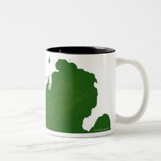 Mapa de Michigan Taza De Dos Tonos