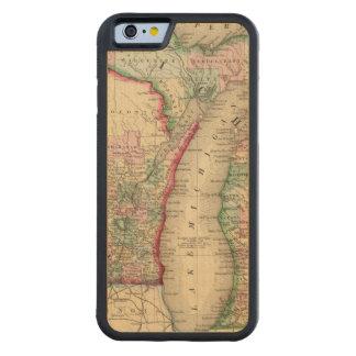 Mapa de Michigan, Wisconsin de Mitchell Funda De iPhone 6 Bumper Arce