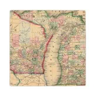 Mapa de Michigan, Wisconsin de Mitchell