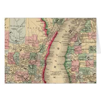 Mapa de Michigan, Wisconsin de Mitchell Tarjetas