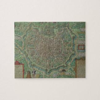 """Mapa de Milano, de """"Civitates Orbis Terrarum"""" por  Rompecabezas Con Fotos"""