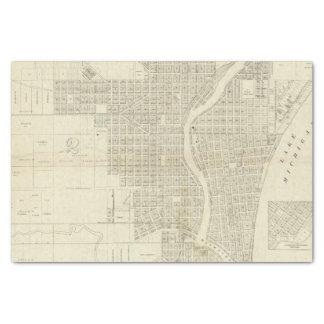 Mapa de Milwaukee Papel De Seda Pequeño