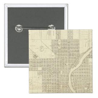 Mapa de Milwaukee Pin Cuadrada 5 Cm