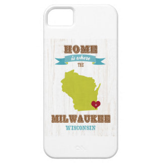 Mapa de Milwaukee, Wisconsin - casero está donde e iPhone 5 Fundas