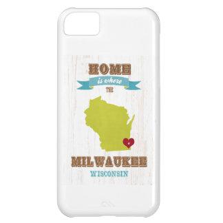 Mapa de Milwaukee, Wisconsin - casero está donde e