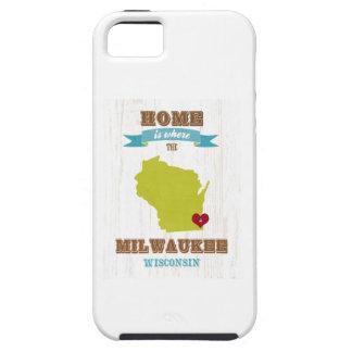 Mapa de Milwaukee, Wisconsin - casero está donde e iPhone 5 Cárcasa