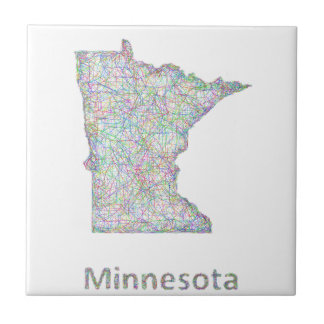 Mapa de Minnesota Azulejo Cuadrado Pequeño