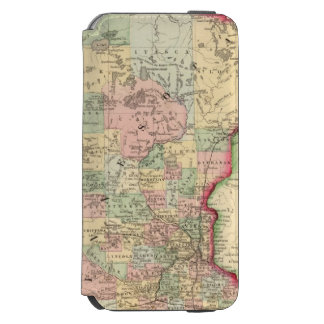 Mapa de Minnesota de Mitchell Funda Billetera Para iPhone 6 Watson