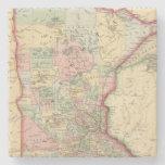 Mapa de Minnesota de Mitchell Posavasos De Piedra