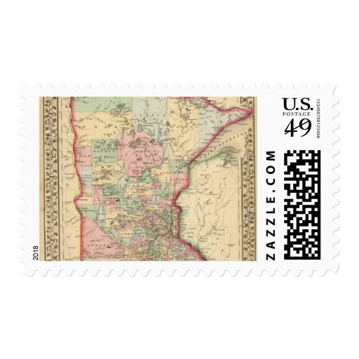 Mapa de Minnesota de Mitchell Sello