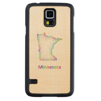 Mapa de Minnesota del arco iris Funda De Galaxy S5 Slim Arce