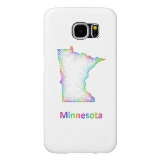 Mapa de Minnesota del arco iris Fundas Samsung Galaxy S6