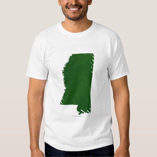 Mapa de Mississippi 2 Playeras