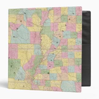 Mapa de Mississippi, de Luisiana y de Arkansas