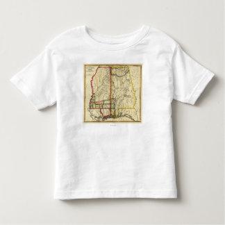 Mapa de Mississippi y de AlabamaPanoramic Tee Shirt