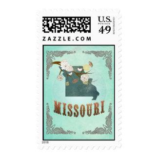 Mapa de Missouri con los pájaros preciosos Envio