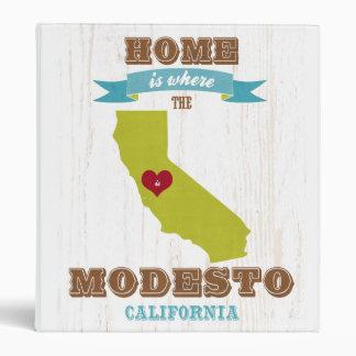 Mapa de Modesto California - casero es donde