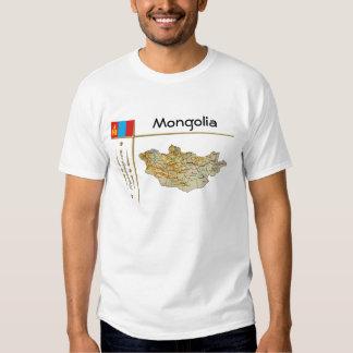 Mapa de Mongolia + Bandera + Camiseta del título Remera