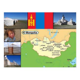 Mapa de Mongolia Postales