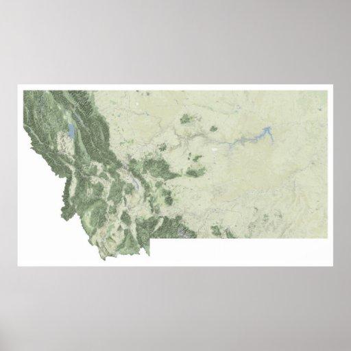Mapa de Montana Impresiones