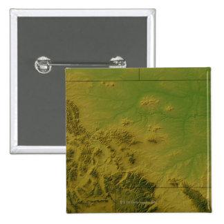Mapa de Montana Pin Cuadrada 5 Cm