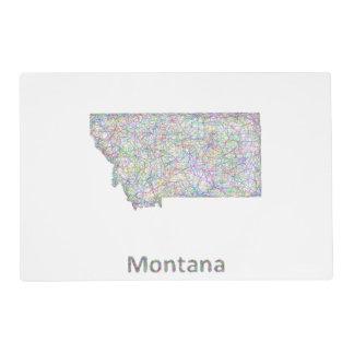 Mapa de Montana Tapete Individual