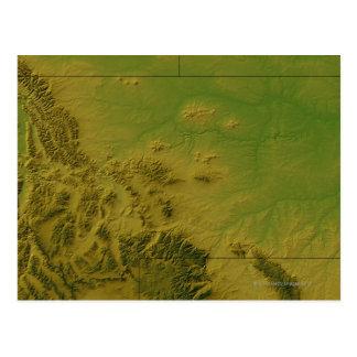 Mapa de Montana Tarjeta Postal