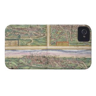 Mapa de Montpellier, viajes, y de Poitiers, de Case-Mate iPhone 4 Funda