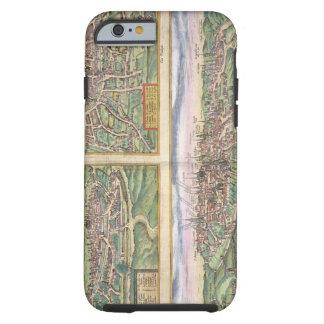 Mapa de Montpellier, viajes, y de Poitiers, de Funda Para iPhone 6 Tough