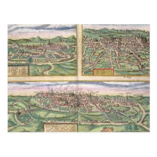 Mapa de Montpellier, viajes, y de Poitiers, de Postal