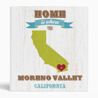 Mapa de Moreno Valley California - casero es dond