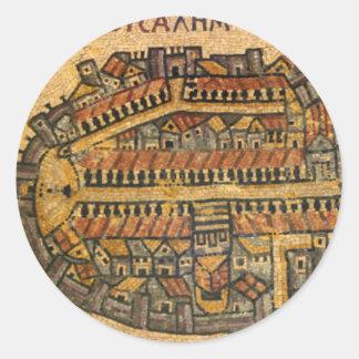 Mapa de mosaico de Madaba de Jerusalén Pegatinas