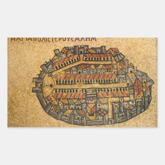 Mapa de mosaico de Madaba de Jerusalén Rectangular Altavoces