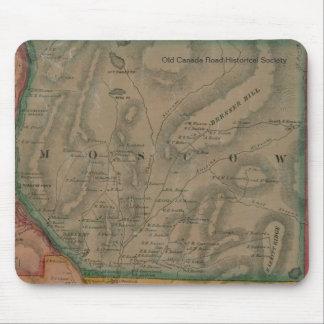 Mapa de Moscú, Maine 1860 - Mousepad