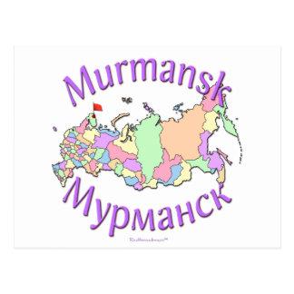 Mapa de Murmansk Rusia Postales
