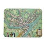 "Mapa de Namur, de ""Civitates Orbis Terrarum"" por G Imanes Flexibles"