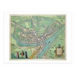"""Mapa de Namur, de """"Civitates Orbis Terrarum"""" por G Tarjeta Postal"""