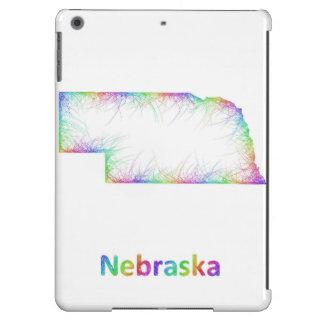 Mapa de Nebraska del arco iris Funda Para iPad Air