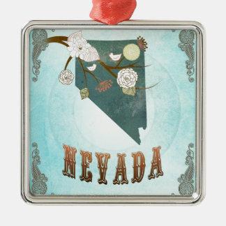 Mapa de Nevada con los pájaros preciosos Ornatos
