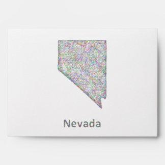 Mapa de Nevada Sobres