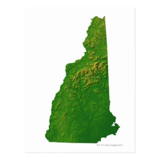 Mapa de New Hampshire Postales