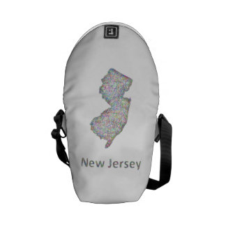 Mapa de New Jersey Bolsas De Mensajeria
