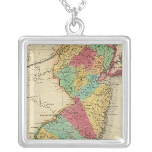 Mapa de New Jersey Collares Personalizados