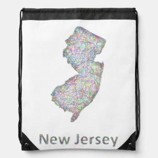 Mapa de New Jersey Mochila